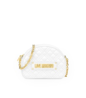 BORSA A TRACOLLA PICCOLA QUILTED BIANCA LOVE MOSCHINO
