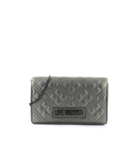 LOVE MOSCHINO QUILTED ROTGUSS GRAU CLUTCH