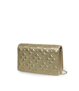 CLUTCH QUILTED ORO LOVE MOSCHINO