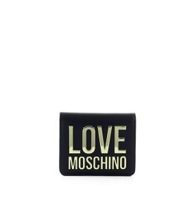 PORTAFOGLIO PICCOLO BONDED NERO ORO LOVE MOSCHINO