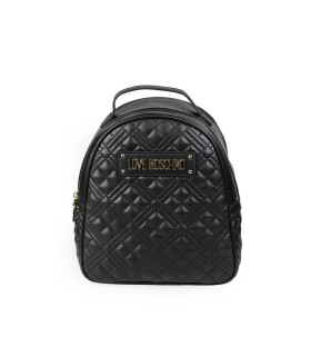 LOVE MOSCHINO QUILTED BLACK BACKPACK