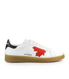 DSQUARED2 BOXER WEISS ROT SNEAKER