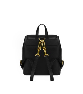 LOVE MOSCHINO BLACK BACKPACK WITH GOLD STUDS