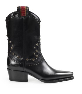 DSQUARED2 WEST STUDS BLACK TEXAN BOOT