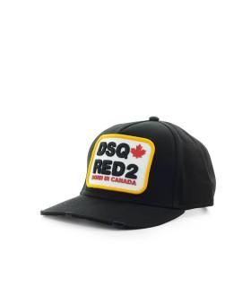 DSQUARED2 D2 PATCH BLACK YELLOW BASEBALL CAP