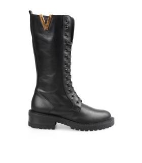 VIA ROMA 15 MALIBÙ BLACK HIGH COMBAT BOOT