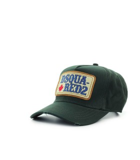 DSQUARED2 D2 PATCH WESTERN MILITARY GREEN BASEBALL CAP