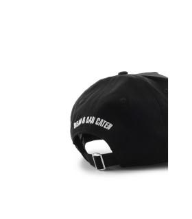 DSQUARED2 I CAN'T BLACK WHITE BASEBALL CAP