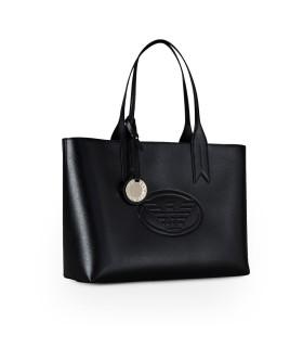 EMPORIO ARMANI BLACK SHOPPING BAG