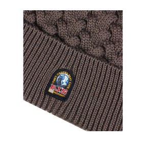 PARAJUMPERS LIGHT BROWN TRICOT BEANIE