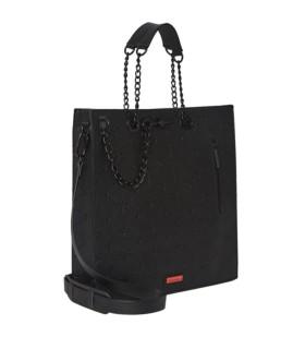 SPRAYGROUND 24/7 LOFT BLACK SHOPPING BAG