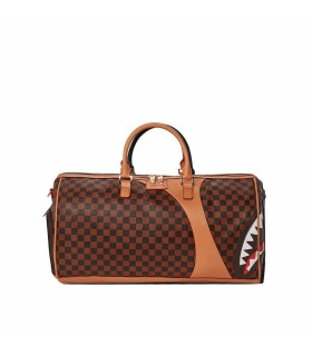 SPRAYGROUND HENNY AIR TO THE THRONE BROWN DUFFLE BAG