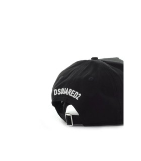 DSQUARED2 COOL BLACK BASEBALL CAP