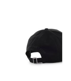 DSQUARED2 D2 LOGO BLACK LUREX BASEBALL CAP
