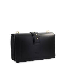 PINKO LOVE CLASSIC ICON MAXI CHAIN BLACK SHOULDER BAG