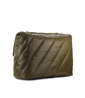 PINKO LOVE BIG PUFF MAXI QUILT 4 CL OLIVE GREEN CROSSBODY BAG