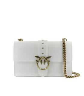 PINKO LOVE CLASSIC ICON SIMPLY 9 CL WHITE CROSSBODY BAG