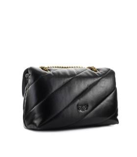 PINKO LOVE CLASSIC PUFF MAXI QUILT 4 BLACK CROSSBODY BAG