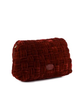 PINKO LOVE CLASSIC PUFF WAVE RED CROSSBODY BAG