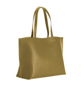 PINKO EVERYDAY OLIVE GREEN SHOPPING BAG