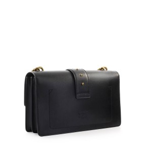 PINKO LOVE CLASSIC ICON SIMPLY 9 CL BLACK CROSSBODY BAG