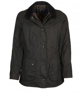 GIACCA BEADNELL WAX VERDE OLIVA BARBOUR