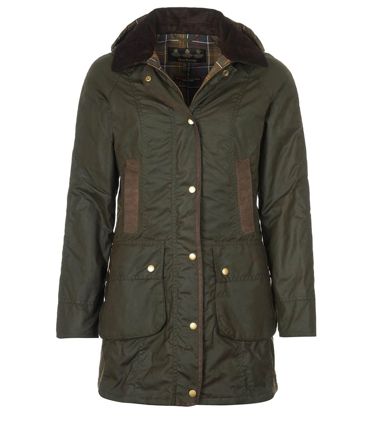 Barbour Bower Wax Olive Green Parka