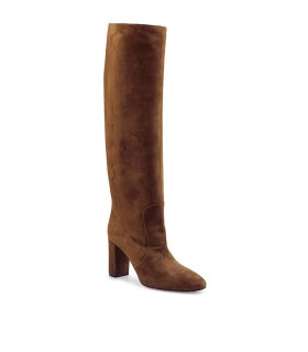 VIA ROMA 15 BROWN SUEDE HIGH HEELED BOOT