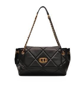 LA CARRIE TOUCHY BLACK SHOULDER BAG