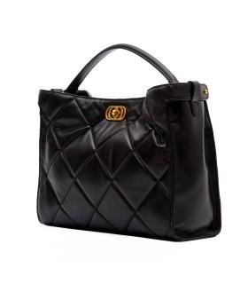 LA CARRIE SILVIE TOUCHY BLACK SHOPPING BAG