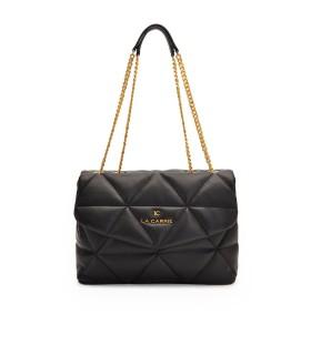 LA CARRIE TOUCHY BLACK SHOPPING BAG