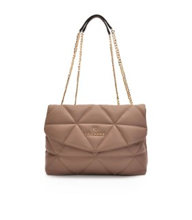 LA CARRIE TOUCHY TAUPE SHOPPING BAG