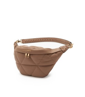 LA CARRIE TOUCHY TAUPE BELT BAG