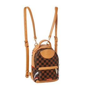 SPRAYGROUND HENNY AIR TO THE THRONE BROWN SMALL BACKPACK