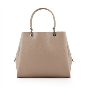 EMPORIO ARMANI BEIGE SHOPPING BAG WITH CHARM