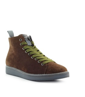 PANCHIC BROWN GREEN SUEDE ANKLE BOOT