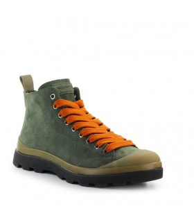 PANCHIC MILITARY GREEN ORANGE SUEDE ANKLE BOOT