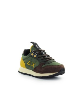 BASKETS BOY'S TOM GOES CAMPING VERT MILITAIRE SUN68