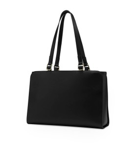 LOVE MOSCHINO BLACK SHOPPING BAG WITH CHAIN