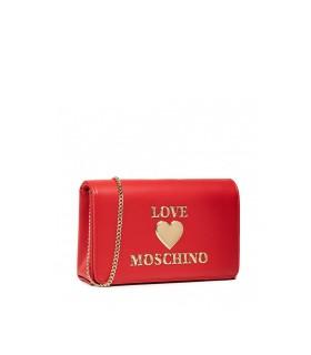 LOVE MOSCHINO ROT CLUTCH MIT LOGO