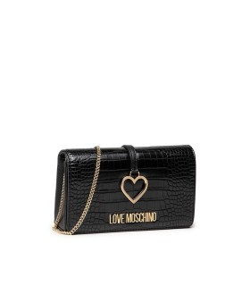 LOVE MOSCHINO BLACK COCCO PRINT CLUTCH