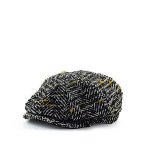 GARRY'S EARTH BLACK WHITE YELLOW FLAT CAP