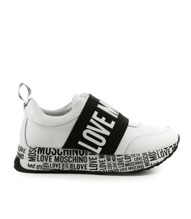 LOVE MOSCHINO WHITE SNEAKER WITH BAND