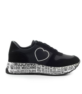 LOVE MOSCHINO BLACK SNEAKER WITH HEART